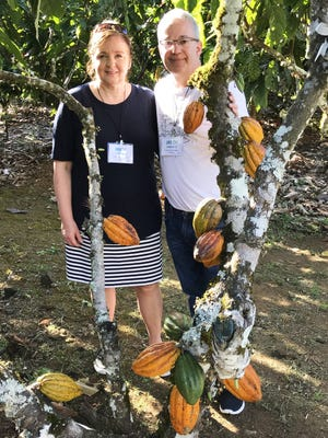 Mary and Jerry Coblentz traveled to Chili to see cocoa beans growing firsthand.