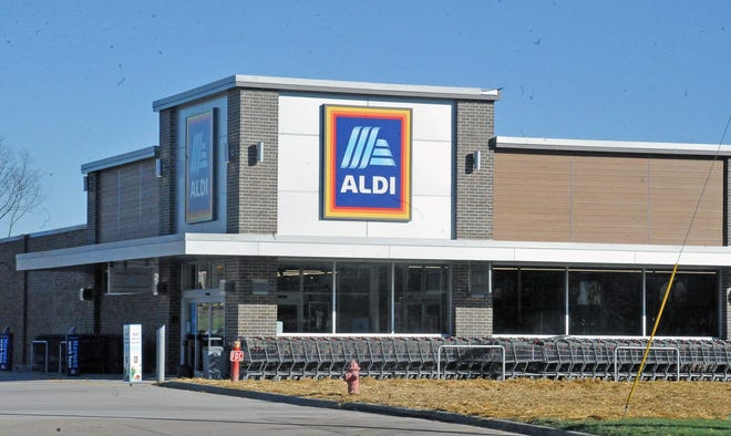 The newly remodeled Aldi grocery store opened Wednesday on Akron Road, Wooster.