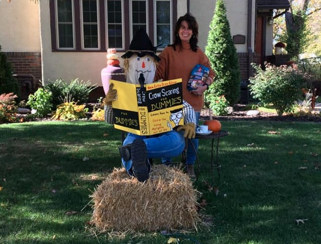 """""""Crow Scare for Dummies,"""" 1202 Grand Ave., Keokuk, was named the residential winner of Keokuk's Scarecrow Stroll."""