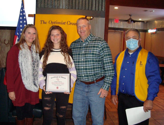 Lindsay Andress was recently named a student of the month by the Glen Rose Optimist Club.