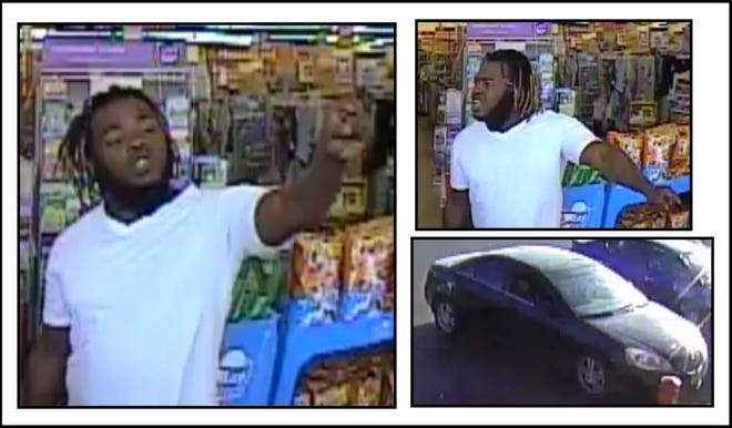Lubbock police on Wednesday released images of a man believed to have attacked a dollar store employee in July, saying he drove away in a dark-colored four-door vehicle.