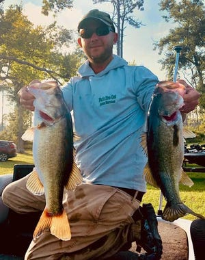 Kyle Fox of the Lakeland Bassmasters finished in first place out of a field of more than 65 anglers in the Pro-Angler division with a total weight of 34.80 pounds during the Florida BASS Nation State Championship Tournament Oct. 24-25 on Lake Seminole.