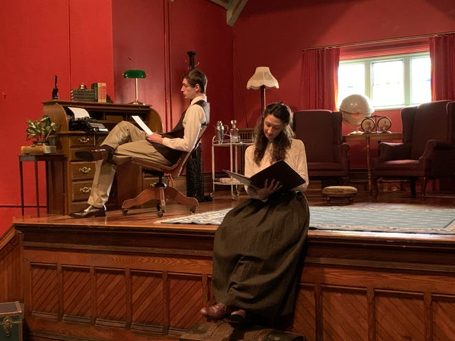 "Damon Fletcher and Marilla Gonzalez are the two-person cast for Theatre 444's production of ""Daddy Long Legs,"" which will stream live from the Waterloo Library and Historical Society's Fatzinger Hall."