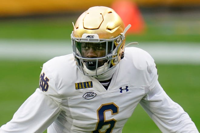 Linebacker Jeremiah Owusu-Koramoah and the Notre Dame defense has done a good job of eliminating big plays for opponents this season.