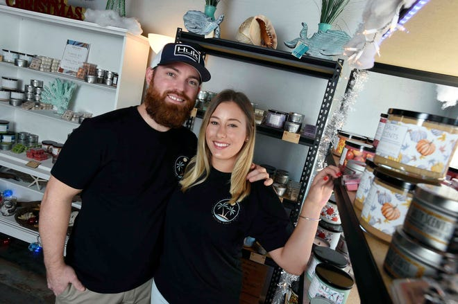 Breanna Paske and Josh Frye started their candle business, Salty Scents, in June 2018. They recently moved to 118 Eglin Parkway S.E.
