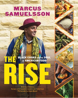 """This cover image released by Voracious shows """"Book Story: The Rise: Black Cooks and the Soul of American Food,"""" by Marcus Samuelsson.  The book has 150 recipes from two dozen top Black chefs and includes profiles of each."""
