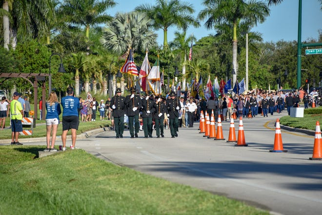 Wellington's Veterans Day parade moves down Forest Hill Boulevard in 2019. This year, the village will mark Veterans Day with a virtual ceremony because of the novel coronavirus pandemic.