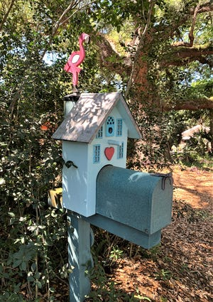 Air mail box on Anastasia Island.