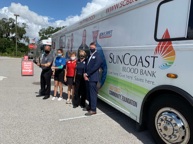 SunCoast Blood Centers held a two-day blood drive in October at Sarasota Military Academy High School.