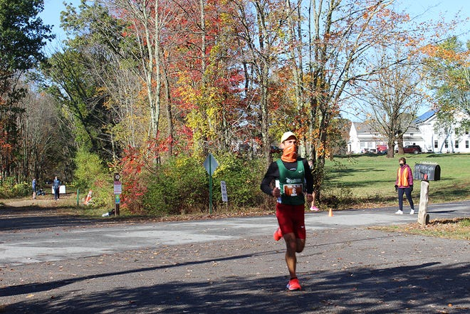 Eric Blake, of West Hartford, was the first-place male runner in the Tackle the Trail race held Oct. 17. The event raised $50,000 for the Quinebaug Valley Community College Foundation.