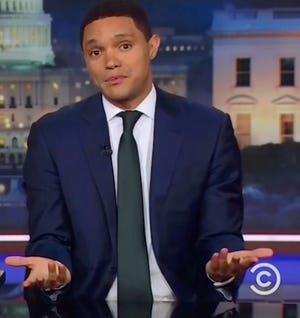 "Trevor Noah appears on ""The Daily Show."""