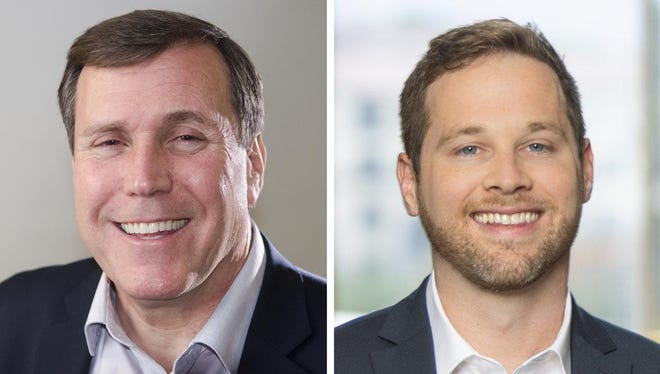 California 21st State Senate District candidates incumbent Scott Wilk (left) and challenger Kipp Mueller.