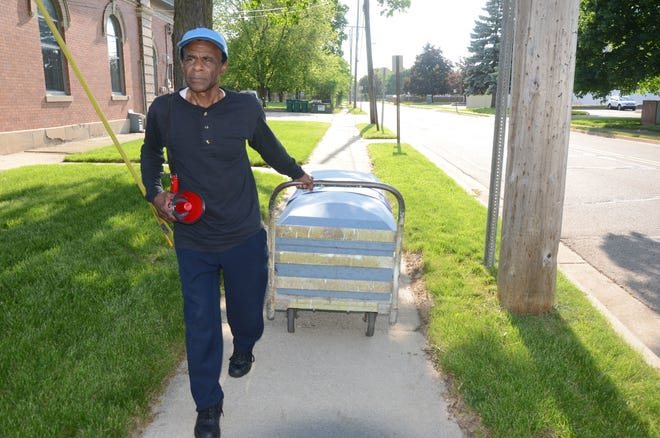 Bobby Holley pulled a casket through several Battle Creek neighborhoods in 2018 to protest violence.