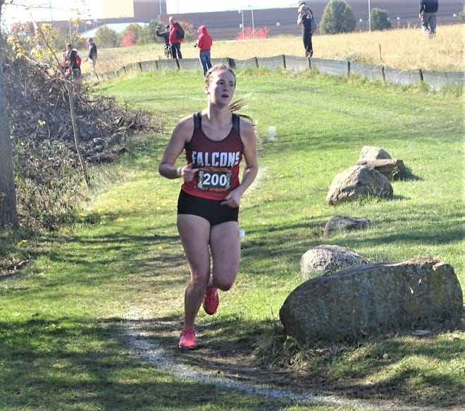 Fairfield Union senior Madison Eyman placed second at the Division II regional at Pickerington North, will be making her fourth consecutive trip the state cross country championships on Saturday at Fortress Obetz.