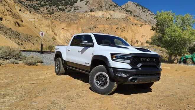 Gold rush. The 2021 Ram 1500 TRX can go most anywhere on- and off-road. Here it is near Virginia City, Nevada — a famous gold rush town. You'll need to put down $89,000 in gold to afford this pickup.