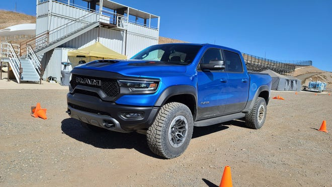The 2021 Ram 1500 TRX builds on the Ram 15000 pickup with a fortified chassis and 702-horse Hellcat engine for extreme off-road capability.