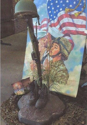 An example of memorabilia that will be displayed during a Veterans Day celebration Nov. 11, 2020 at St. John XXII Catholic Church.