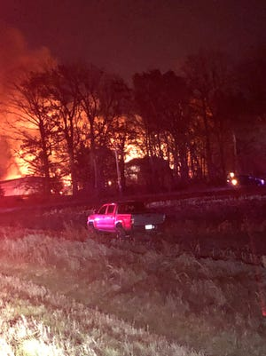 A barn fire in Hobart killed several cattle Tuesday night.
