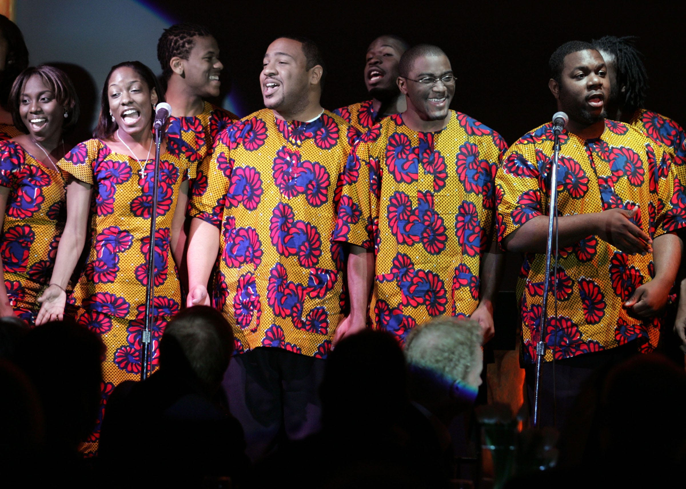 The Fisk University famed Jubilee Singers are performing on stage after being honored during the 2007 Recording Academy Honors ceremony at the Lowes Vanderbilt Plaza Hotel April 8, 2007.