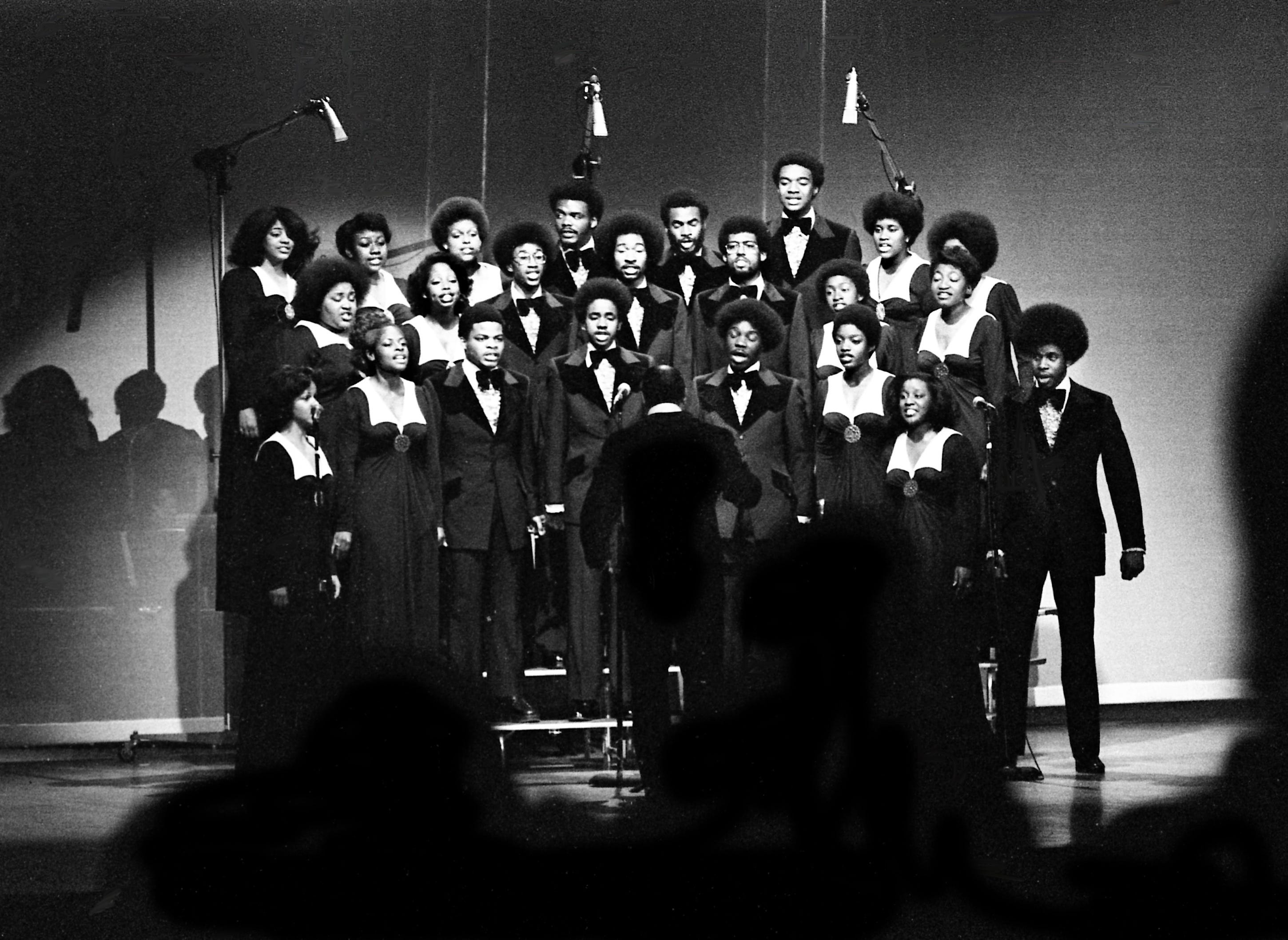 The Jubilee Singers of Fisk University perform during taping of a special production on stage of the Grand Ole Opry House April 23, 1975. The taping will be edited into a half-hour nationwide television special sponsored by the Carnation Milk Co. and set for airing in the summer.