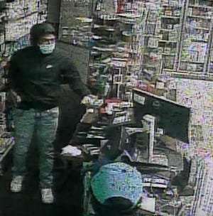 Store video of a suspect in an armed robbery Monday night in Dickson.