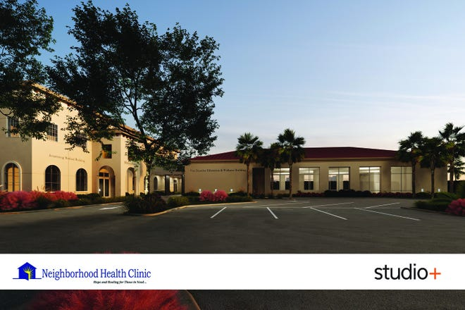 Rendering of the Van Domelen Education and Wellness Building at the Neighborhood Health Clinic in Naples.