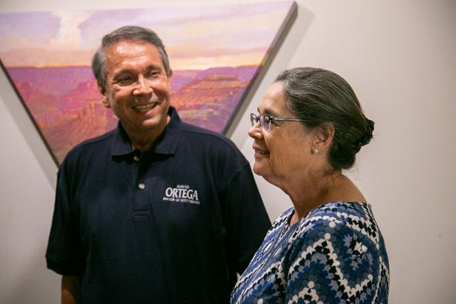 David Ortega and his wife, Rosemary, talk about David's decision to run for mayor of Scottsdale on Tuesday, Nov. 3, 2020. Ortega was leading in the race for mayor, according to early election results from Tuesday night.