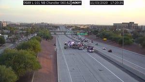 Officials say two people died in crash on Loop 101 near Chandler Boulevard on Nov. 3, 2020.