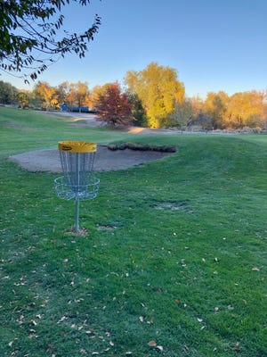 A new disc golf course has opened at Washoe Golf Course. Hole No. 11 is shown.