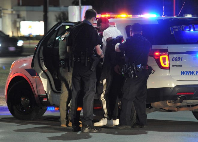 Around 10 p.m., Tuesday, Wichita Falls police arrested suspected allegedly involved in a vehicle burglary that happened in Iowa Park.