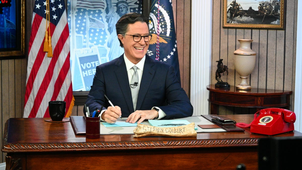 emmy 2021 Stephen Colbert's Election Night 2020: Democracy's Last Stand Building BackAmerica Great Again Better 2020