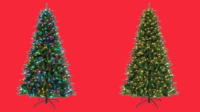 This prelit Christmas tree is compatible with Alexa—and finally on sale!