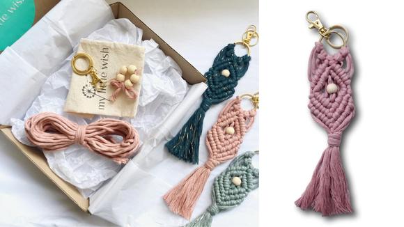 Best DIY gifts: Macramé Key Ring Making Kit