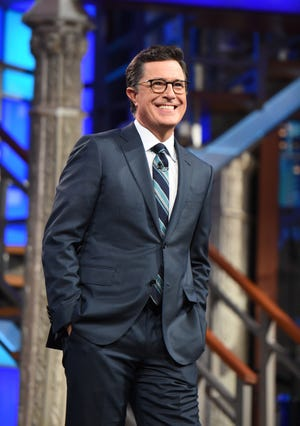 """""""Last Show"""" host Stephen Colbert took to Showtime Tuesday night for a live election special."""