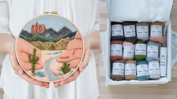Best DIY gifts: Desert Trail Needle Felting Kit