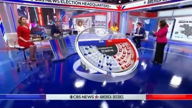 CBS News anchors made predictions from a shiny new studio in Times Square.