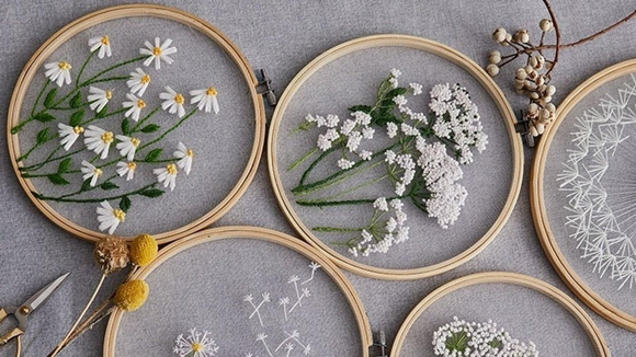 Best DIY gifts: Plants Transparent Embroidery Kit