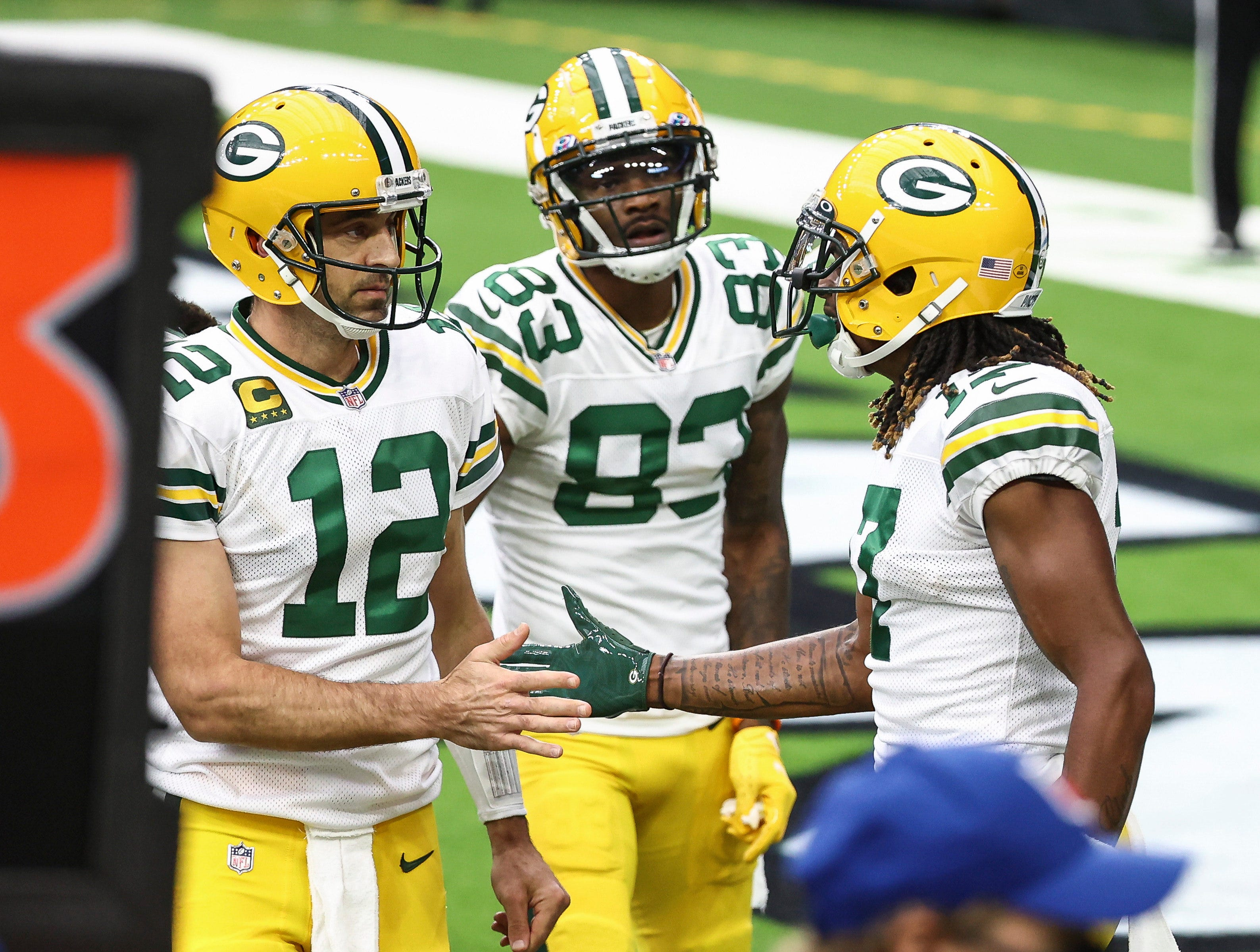 Aaron Rodgers, Davante Adams take Green Bay Packers' lack of deadline deal for receiver in stride