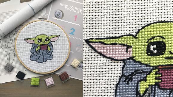 Best DIY gifts: Baby Yoda Cross-Stitch Kit