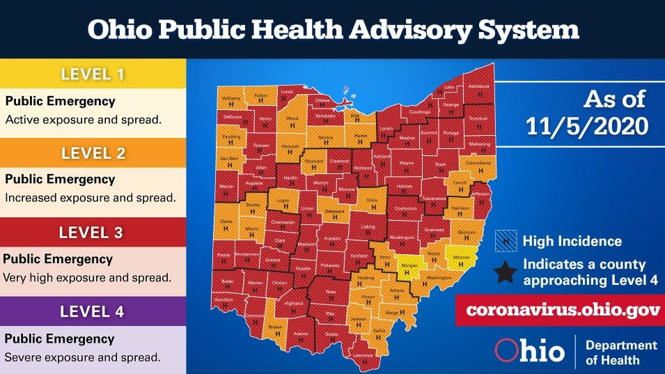 Ohio Covid Map To Be Released By Dewine
