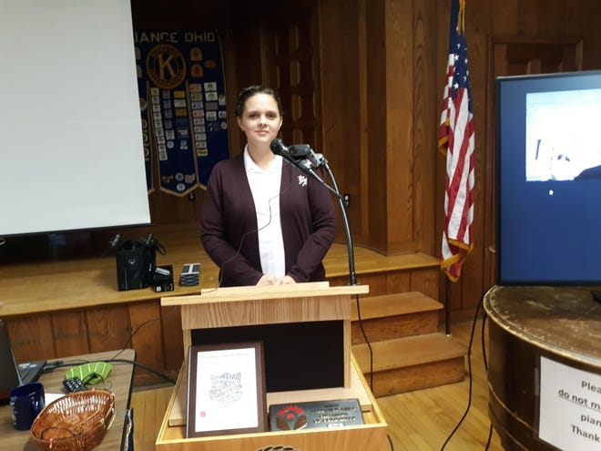 Capt. Dorothy Budd of the Alliance Salvation Army spoke to the Alliance Kiwanis Club about the agency's plans to assist members of the community over the holiday season.