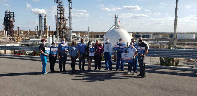 Representatives from Lighthouse Behavioral Wellness Centers were on site at the Valero Refinery on Thursday to receive $30,000 from the Valero Benefit for Children. The corporation gave out $200,000 between five different local nonprofit organizations.