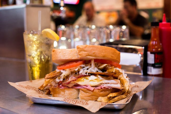 Primanti Bros. restaurants will give veterans and active military members free sandwiches, like this one, on Wednesday.
