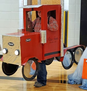 Levi Ray was selected as the overall winner in the elementary costume contest Oct. 29 during red-ribbon week with his Peterbilt tractor with working headlights.