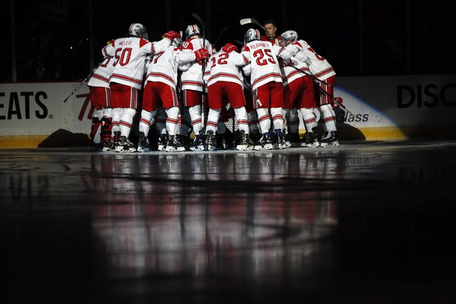 The Ohio State men's hockey team will open its 2020-21 season on Nov. 23 at Minnesota.