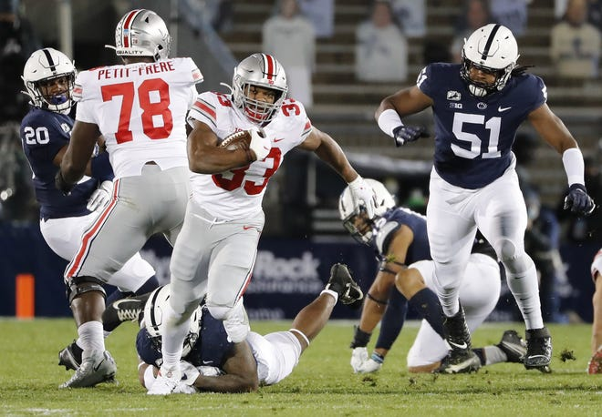 Master Teague III rushed for 110 yards and a touchdown against Penn State.