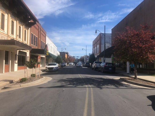 Come Saturday, Nov. 7, this view of downtown Asheboro will be filled with on-street dining instead of vehicles. And the weather is expected to mimic what you see here from Thursday, Nov. 5.