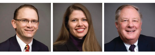 (From left to right) Richard Dyer, CPA, Cathy Roche, CPA, and Bert Humpal, CPA, have joined Rea & Associates as principals.