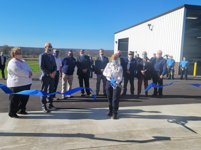 A ribbon-cutting ceremony was held Wednesday for the new Livingston County Emergency Medical Services facility, an expansion of the Livingston County Emergency Operations Center at the Hampton Corners County Complex.