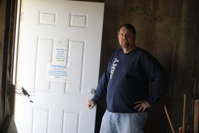 Craig Fenton, founder of Transitions DMC, a homeless and poverty assistance center, at the Burlington facility at 515 South Main St. Transitions has opened a warming shelter for the duration of the polar vortex.